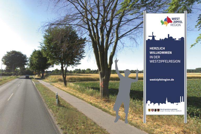 Beispiel Beschilderung für die Westzipfelregion