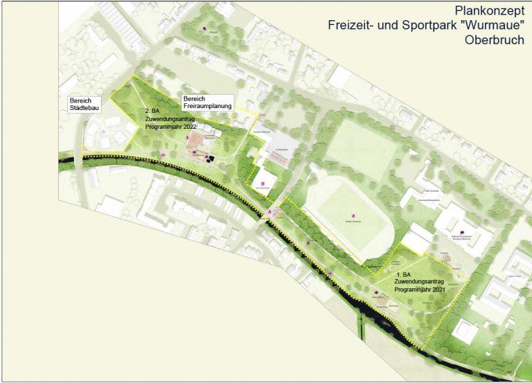 Freizeit-Sportpark Wurmaue Vorplanung
